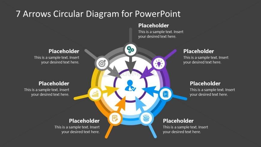 7 Arrows Circular Diagram PPT