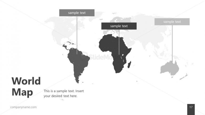 Silhouette World Map Editable