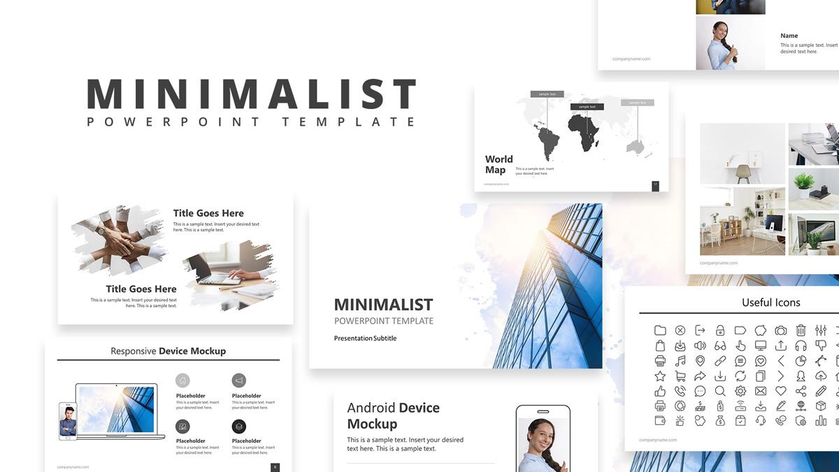 Minimalist Powerpoint Template Slidemodel