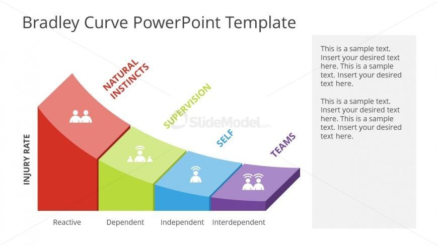 PPT Infographic 3D Curve Graph