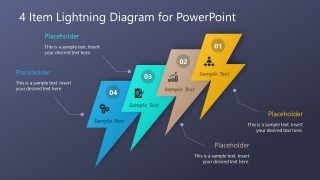 Multi-Step Lightning Diagram PowerPoint Template