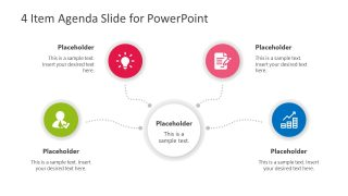 4 Item Agenda Slide Design for PowerPoint