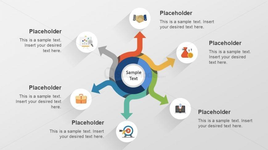 Circular Spoke Diagram Business Concept