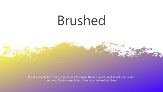 Brushed Style Cutout PowerPoint