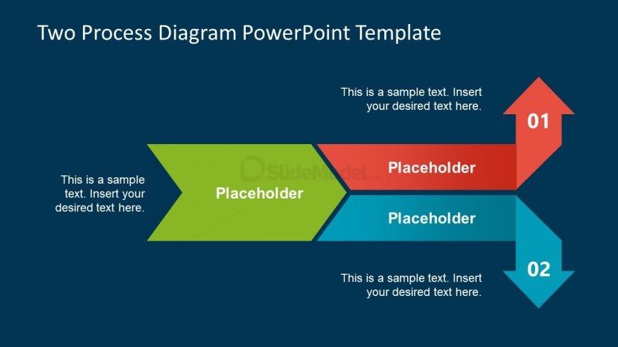 PowerPoint Arrow Diagram 2 Steps