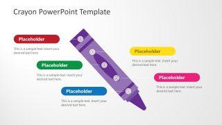 PPT Diagonal Crayon Timeline