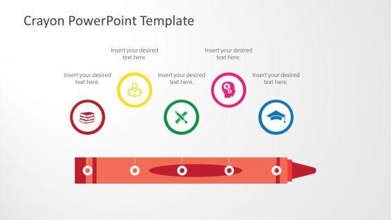 Horizontal Crayon Timeline Template