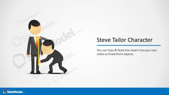 Slide of Steve Cartoon Measuring Clothes