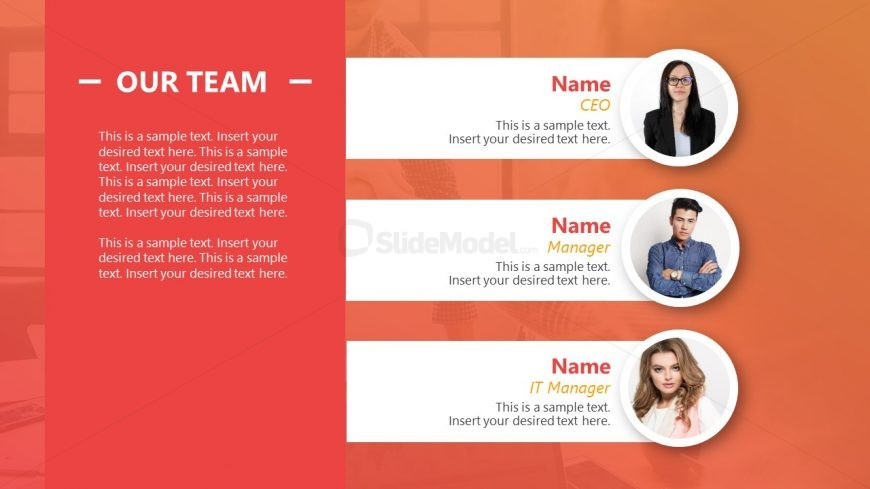 PowerPoint Team Introduction PPT