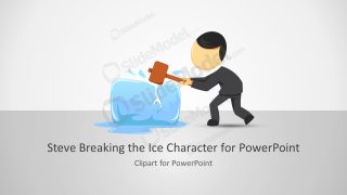 Steve Breaking the Ice Character for PowerPoint