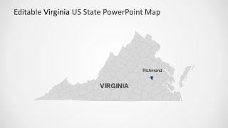 PowerPoint Map Template for Virginia