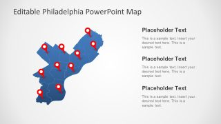 Philadelphia Map PowerPoint Template