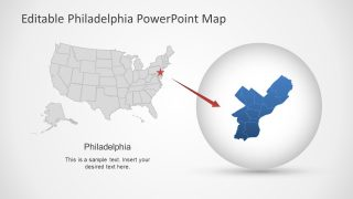 PowerPoint US States Editable Map