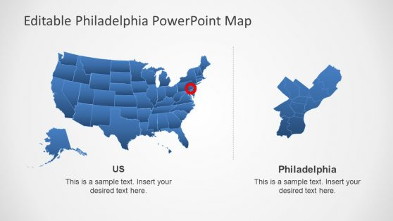 PowerPoint Template of Philadelpha Map
