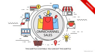 Omnichannel Commerce Cycle PowerPoint