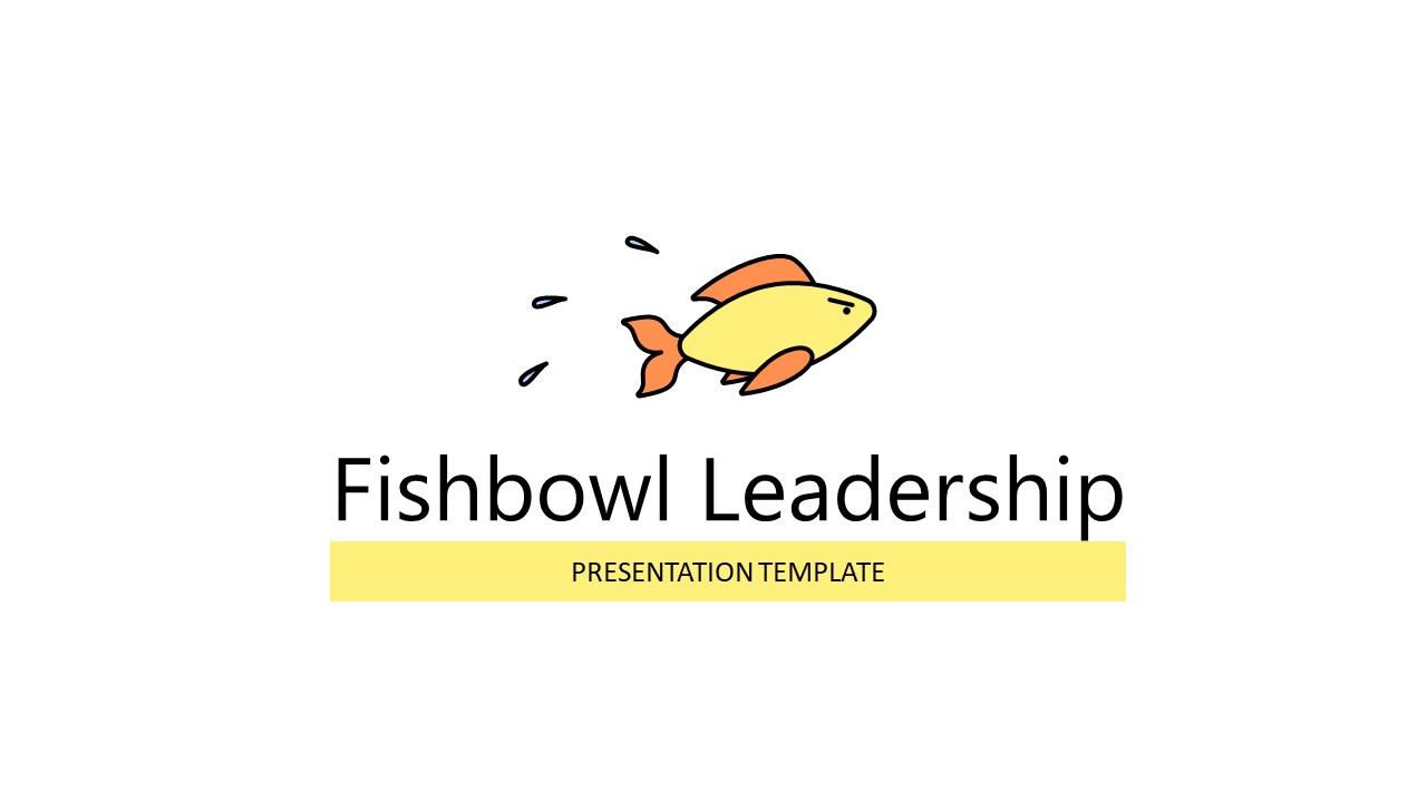 Fish Graphics PowerPoint Template of Leadership
