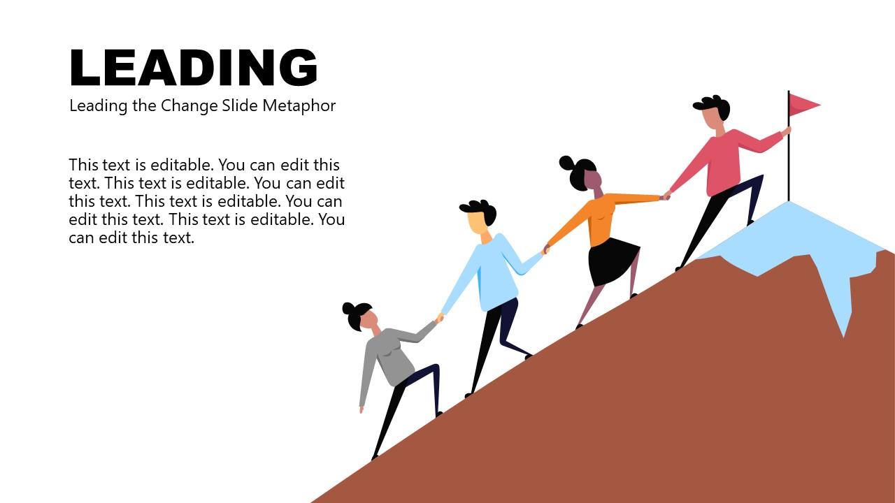 PowerPoint Change Management Metaphor Leading
