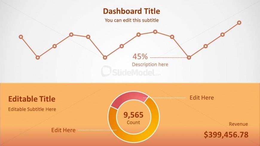 Data Driven Orange Chart Slide for PowerPoint