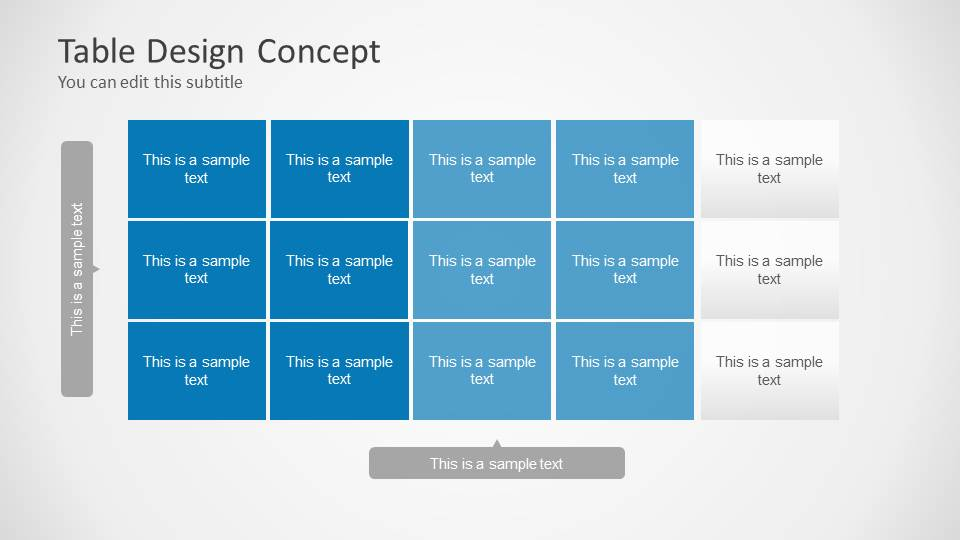 Table design concept for powerpoint slidemodel for Table design ppt