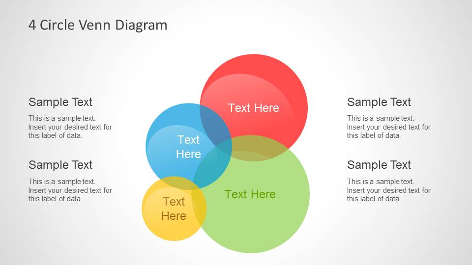 Colorful Intersected Circles Venn Diagrams For Powerpoint Slidemodel