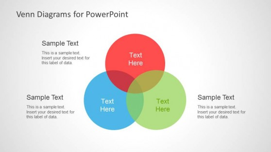 venn diagram   slidemodelsimple venn diagram slide design for powerpoint