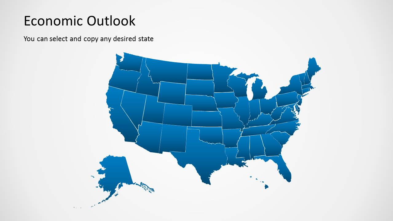 Economic outlook powerpoint template slidemodel economic world map template for powerpoint editable powerpoint map of the united states of america toneelgroepblik Image collections