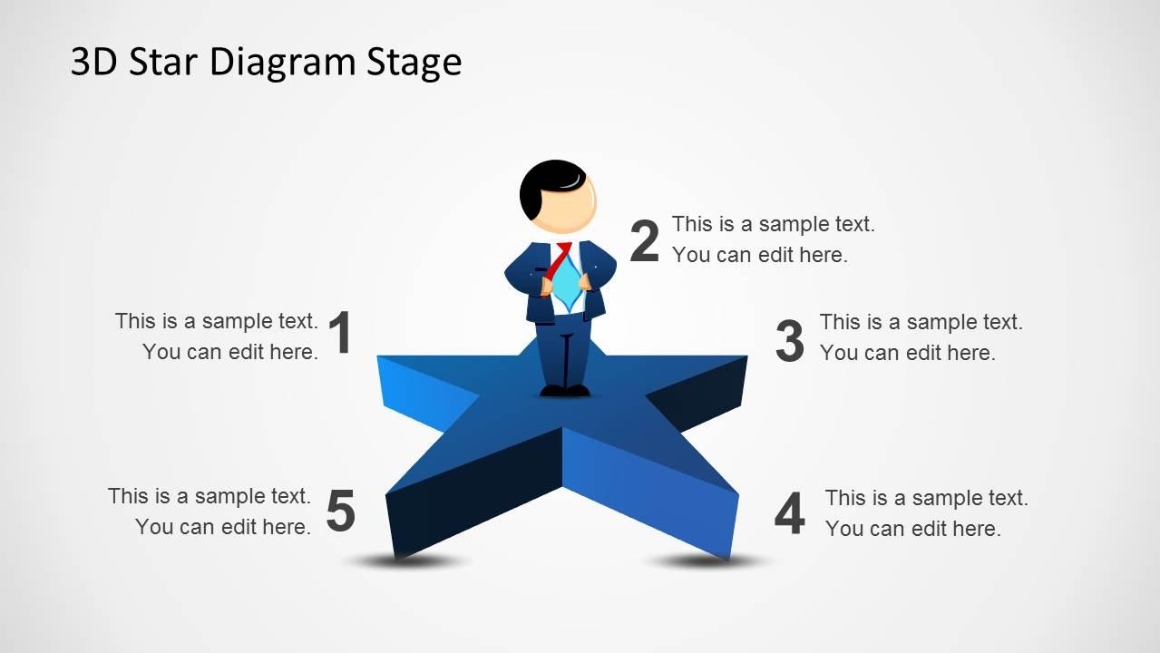 3D Star Diagram Template for PowerPoint - SlideModel