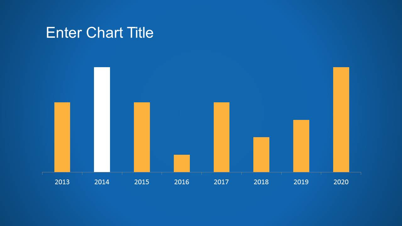 Minimalistic Bar Chart PowerPoint Slide Design