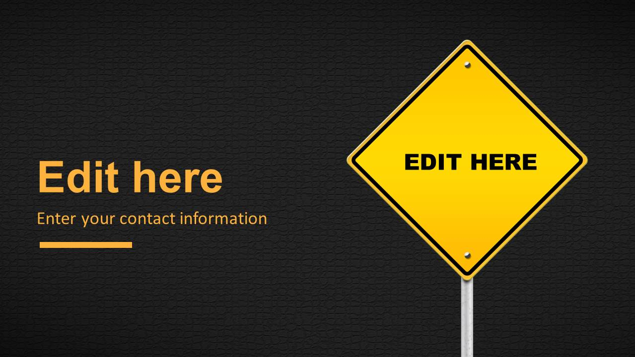 Caution road sign powerpoint template slidemodel editable custom road traffic sign for powerpoint toneelgroepblik