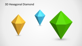 Three Hexagonal Diamond PowerPoint Shapes