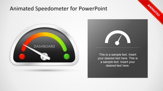 Animated Gauge Template for PowerPoint Dashboard