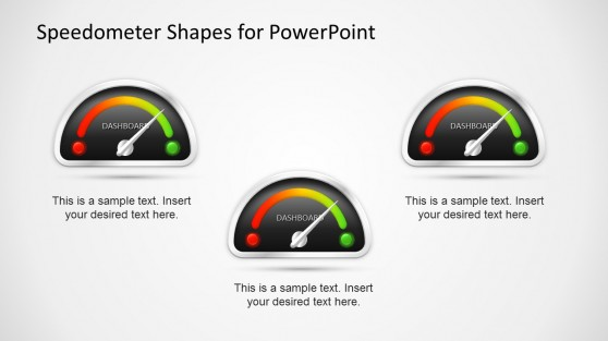 Colorful Gauge Speedometer Shapes for PowerPoint