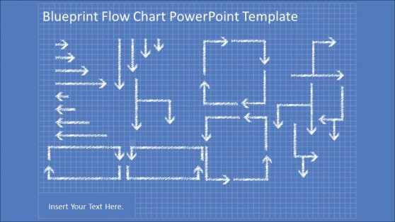 Superior PowerPoint Blueprint Flowchart Connectors