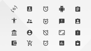 Actions PowerPoint Icons from Google Materials Resources