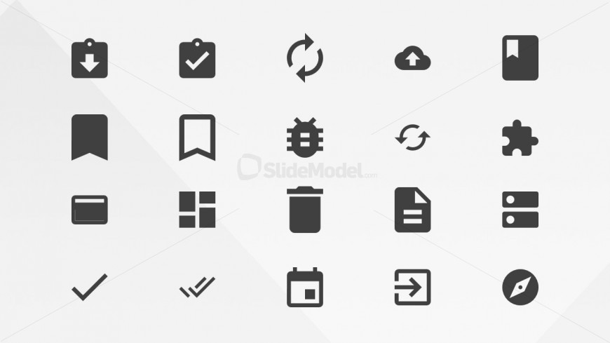 Google's Materials Resources Action PowerPoint Icons