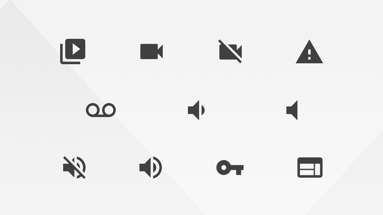 Audio and Video PowerPoint Icons