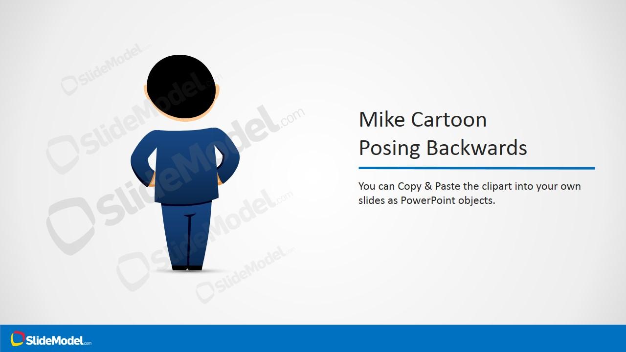 Male Cartoon Posing Backwards Picture