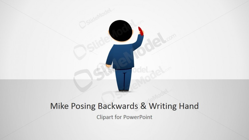 Mike Posing Backwards Illustration with Hand Writing