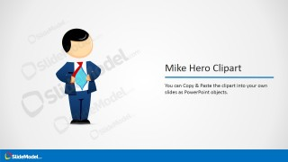 Mike Male Cartoon Hero Picture for PowerPoint