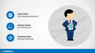 Hero Cartoon Character Design for PowerPoint
