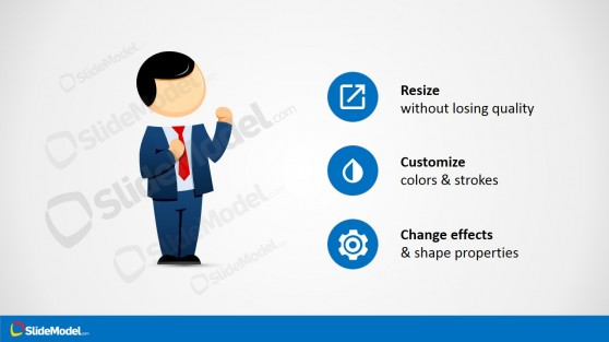 Male Cartoon Fighting Clipart with Suit