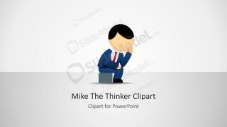 The Thinker Cartoon Business Illustration