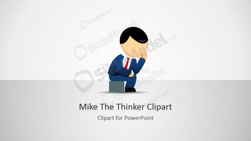 The Thinker Cartoon Business Illustration