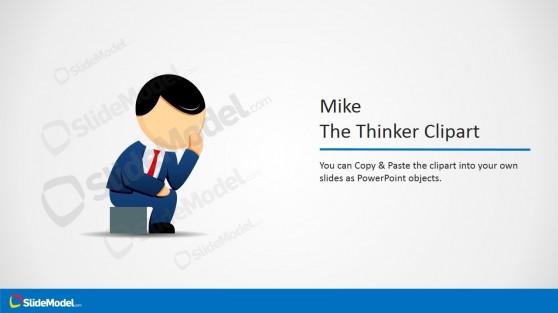 The Thinker Male Cartoon Clipart