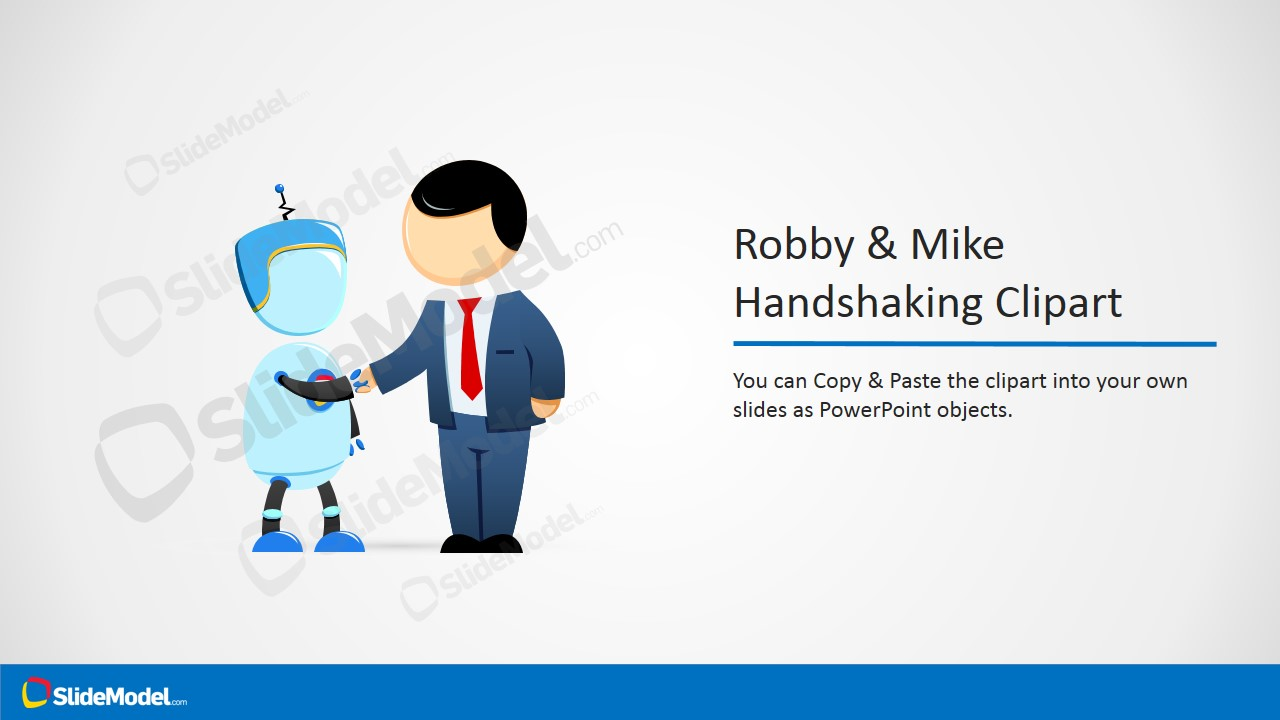 Robby & Mike Cartoon Handshaking Clipart - SlideModel