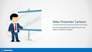 Mike Whiteboard Cartoon Picture for PowerPoint