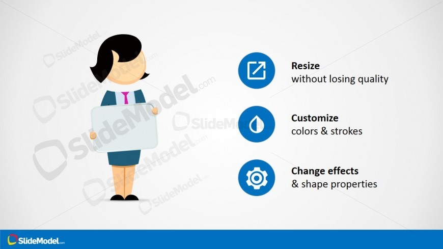 PowerPoint Jane Character Cartoon Clipart