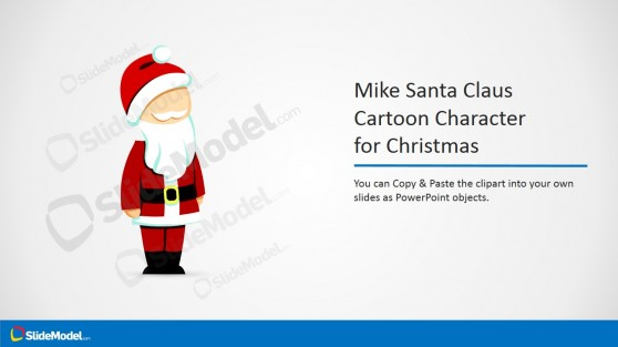 Santa Claus Clipart Illustration for PowerPoint