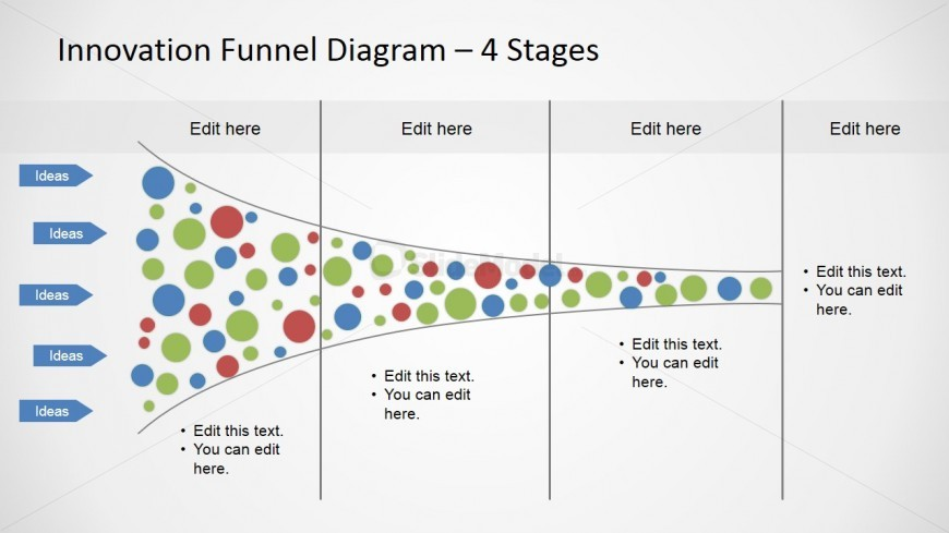 4 Stages Funnel Analysis Horizontal Slide