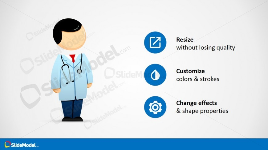Healthcare Cartoon Illustration for PowerPoint